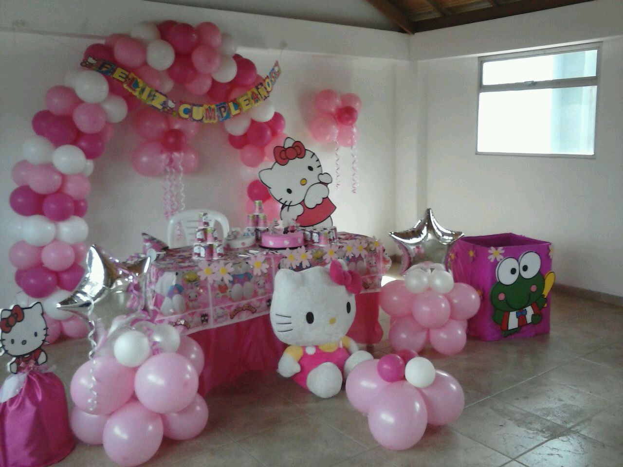 Recreacion tematica hello kitty fiestas infantiles for Decoracion fiestas tematicas